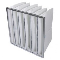 Synthetic high loft bag filters