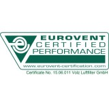 Eurovent approved filters