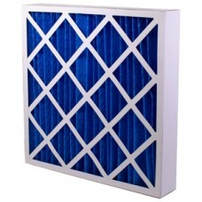 High capacity pleated panel filters
